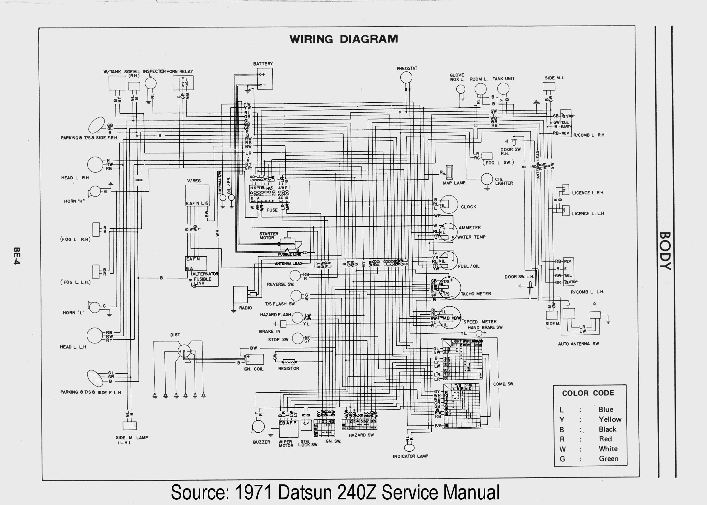 Pleasing 260Z Wiring Diagram Wiring Diagram Tutorial Wiring Digital Resources Tziciprontobusorg
