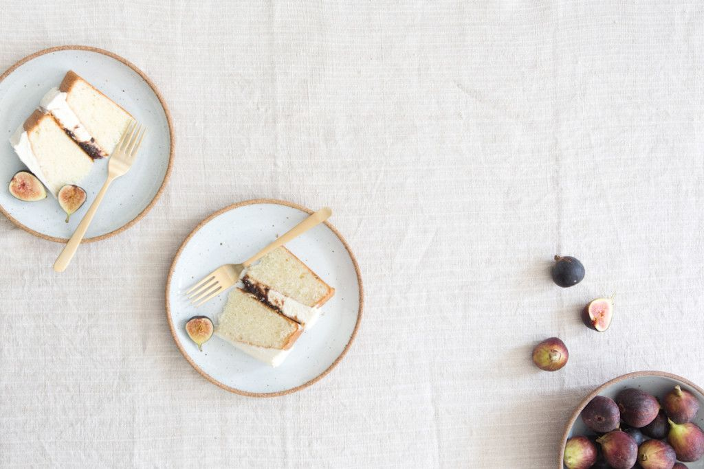 Almond Cake with Fig Compote // Photo by Sarah Elliott for Jenni Kayne / Rip + Tan