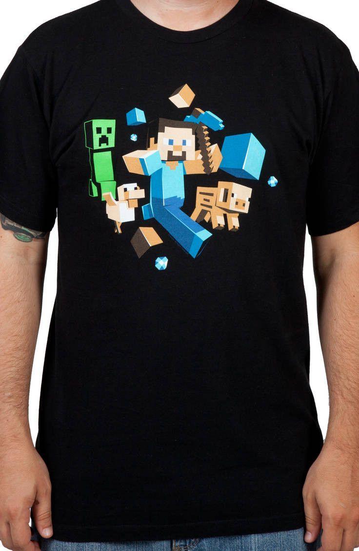 Running Steve Minecraft Shirt