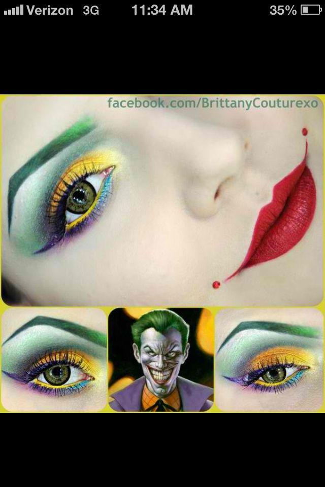 Joker Style Make Up Joker Makeup Halloween Makeup Fantasy Makeup