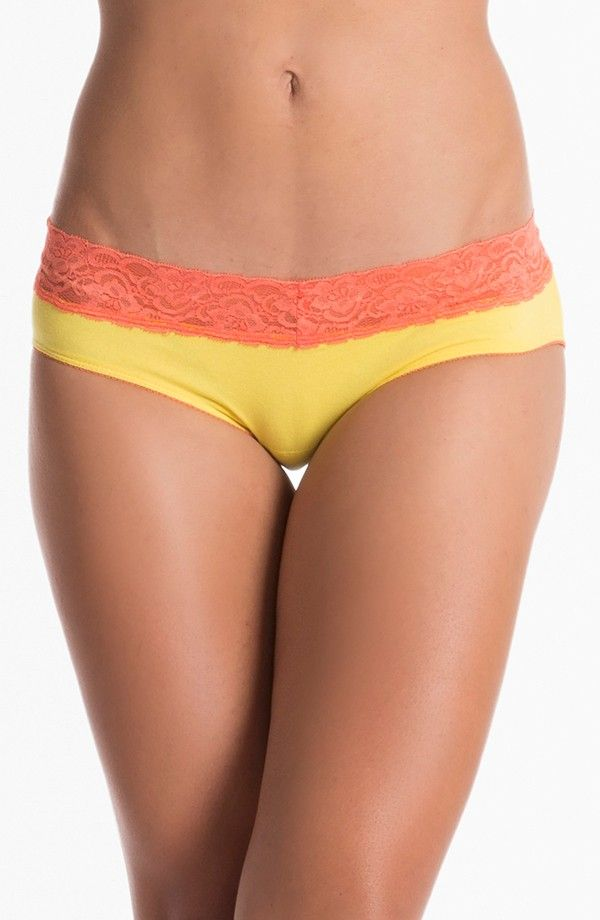 PRETTYSECRETS YELLOW ORANGE LACY HIPSTER Price: Rs. 299