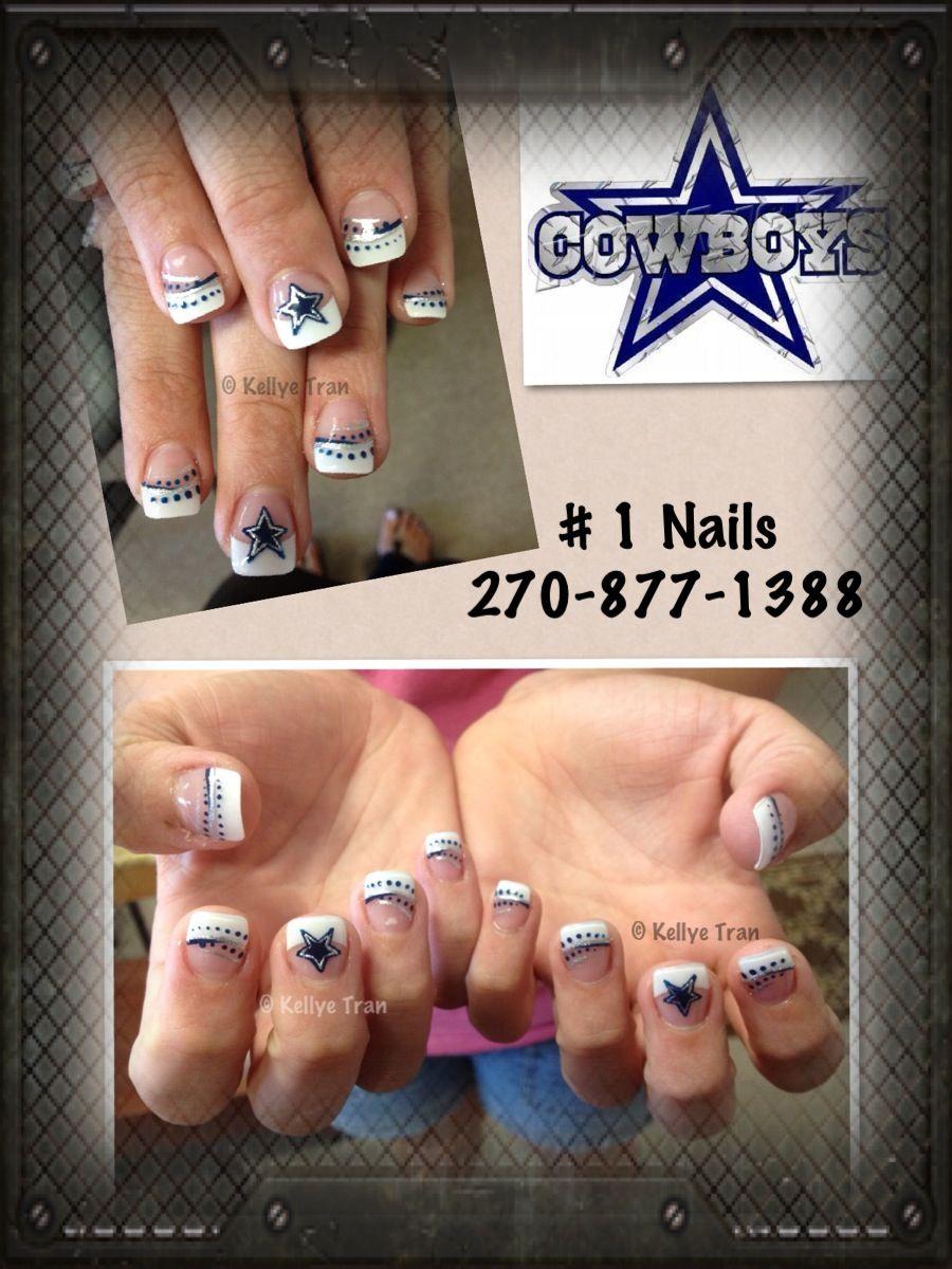 Dallas Cowboys Nail Art | Nail Art | Pinterest | Dallas cowboys ...