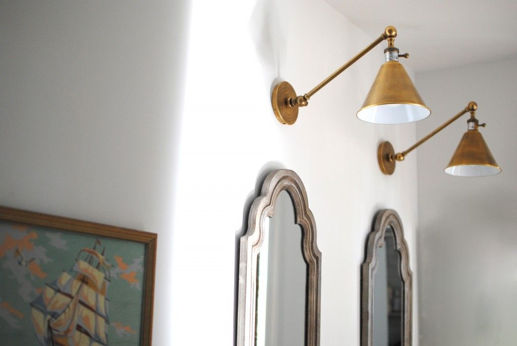 Swing Arm Brass Lights In The Bathroom Are My Fave Swing