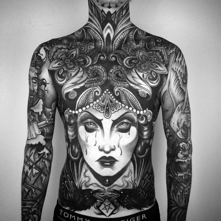 Men's Full Body Tattoo Pattern - Cody Eich Tattoo whole body tattoo - Tattoos And
