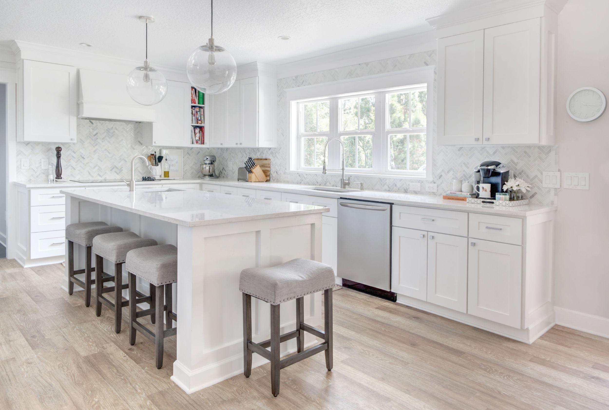 White Kitchen Renovation Interior Design Design Inspiration White Kitchen Cabinets Quartz Coun White Kitchen Renovation White Kitchen Design Kitchen Design