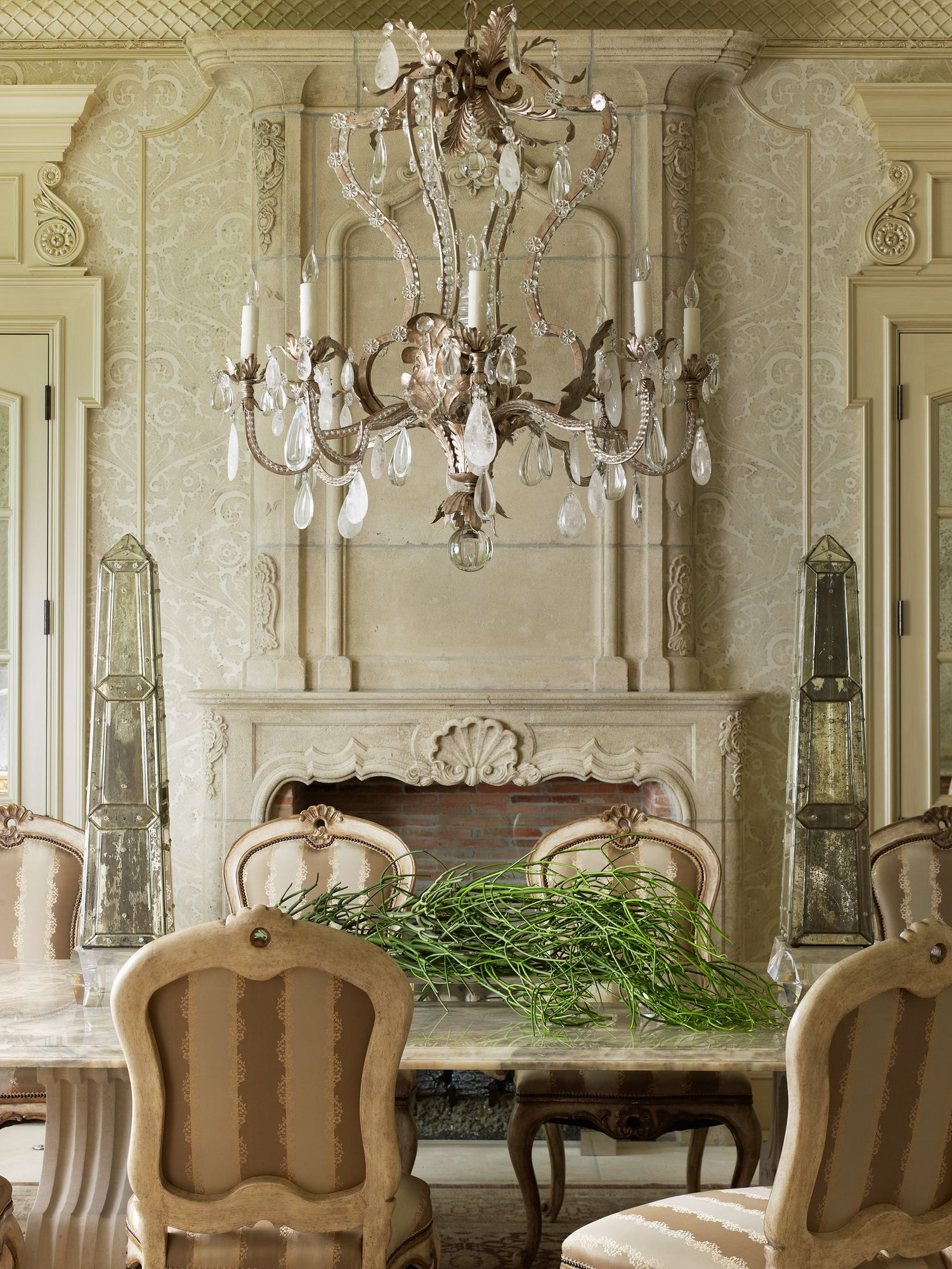 French country formal dining room - Find This Pin And More On French Country Style And Living This Neutral Dining Room
