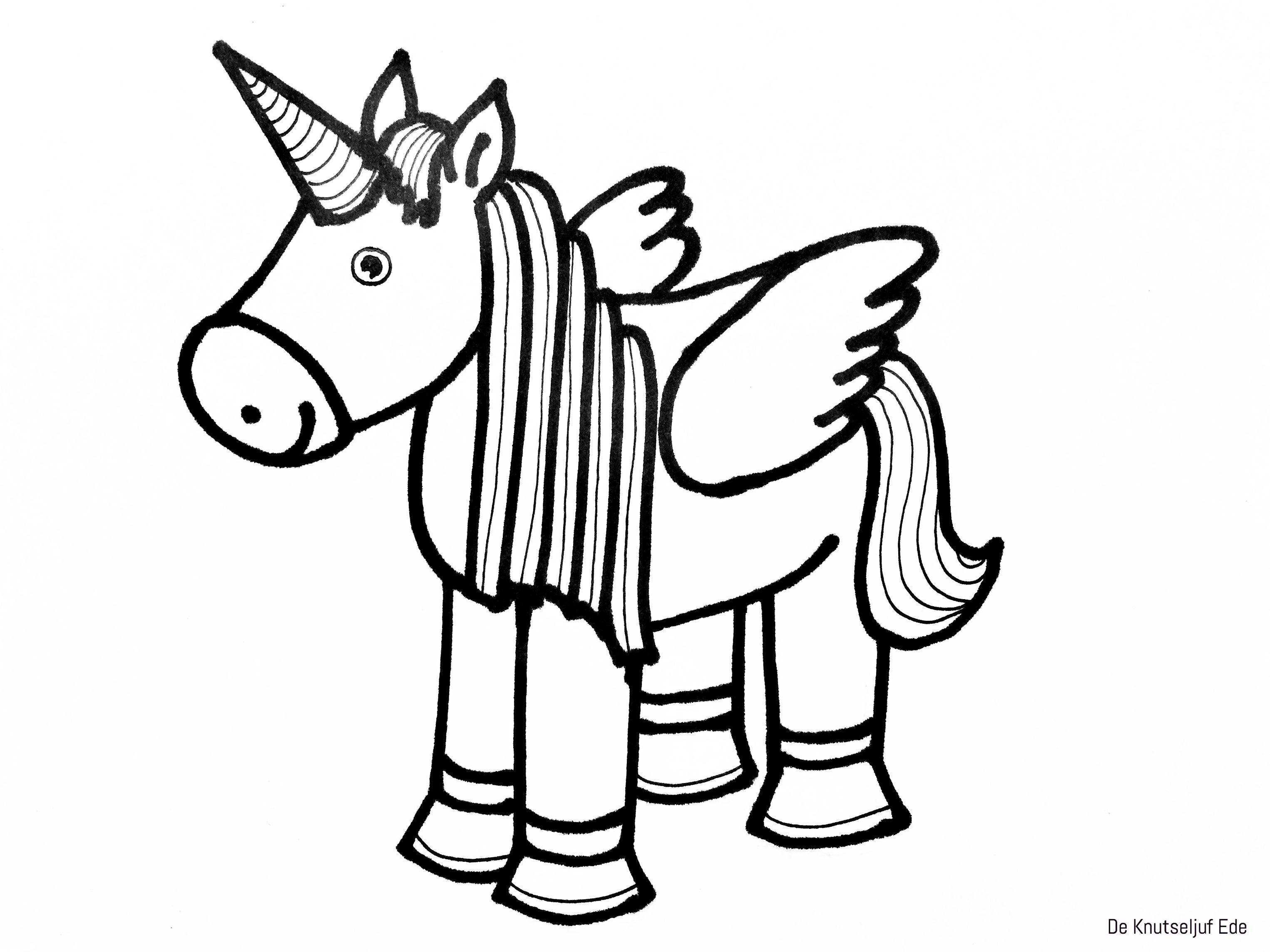 kleurplaten eenhoorns unicorns kleurplaten gratis