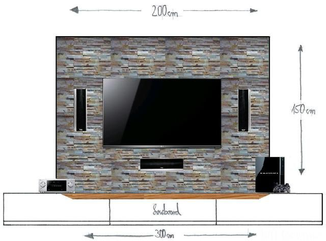 unvollst ndiger entwurf meiner tv wand tooltime pinterest tvs wand and tv walls. Black Bedroom Furniture Sets. Home Design Ideas