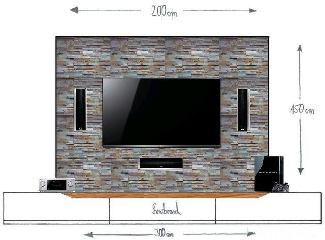 Unvollst?ndiger Entwurf Meiner TV Wand