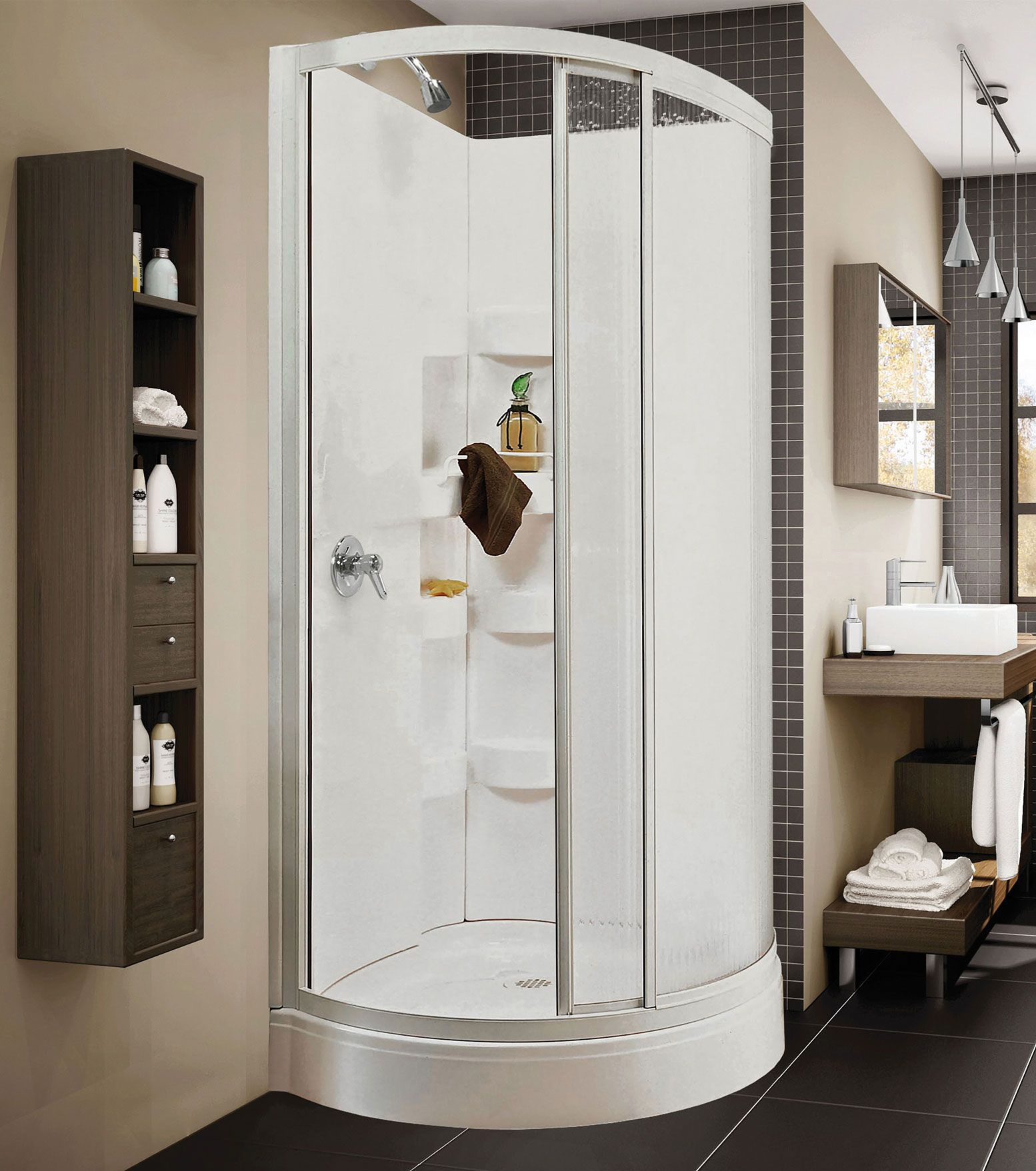 Iris B Corner shower - Keystone by MAAX | Home improvement ideas ...