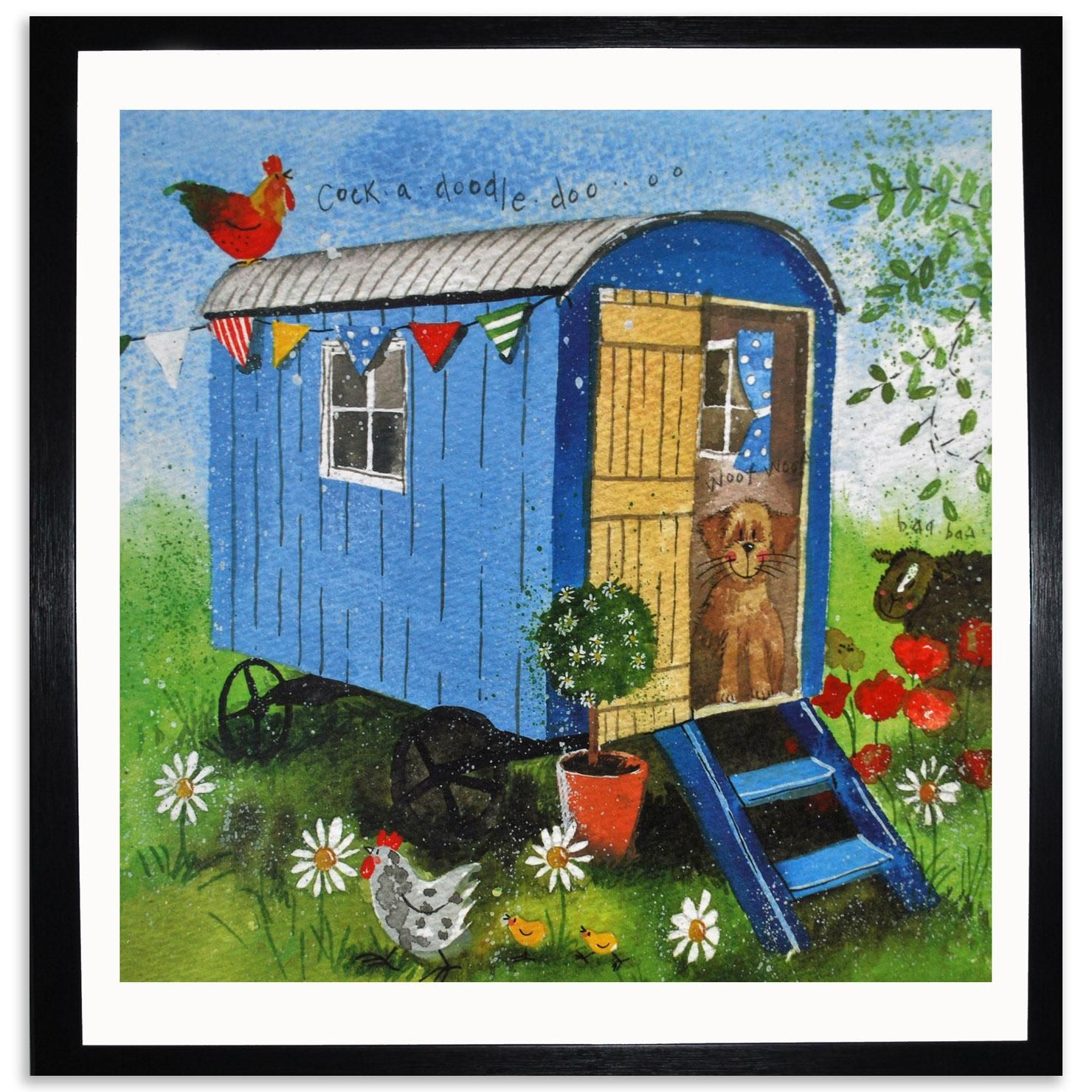 You Inspiration Hut Submit Your Inspiration: The Art Of Alex Clark - Shepherds Hut- ACHICA