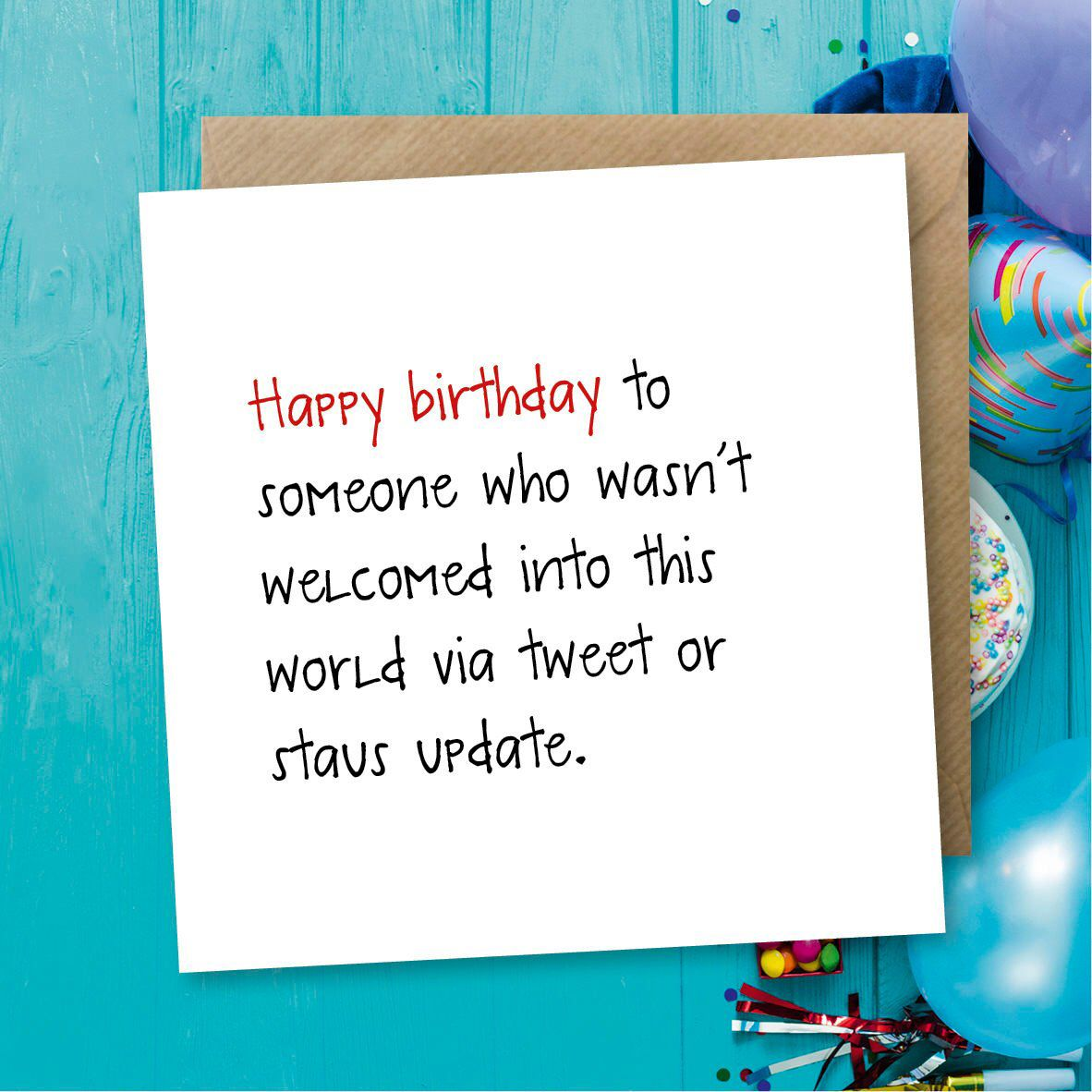 Excited To Share This Item From My Etsy Shop Funny Birthday Card Greeting Status Facebook Tweet Sarcastic