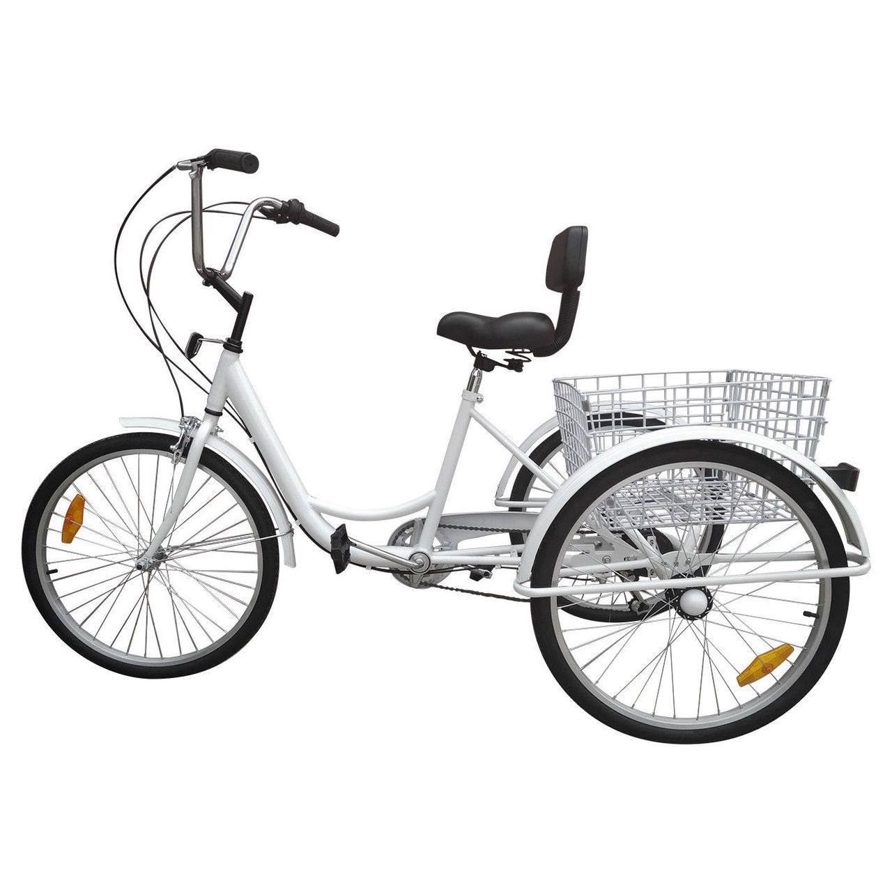 24 Tricycle Adult 3 Wheel Trike 7 Speed Bicycle With
