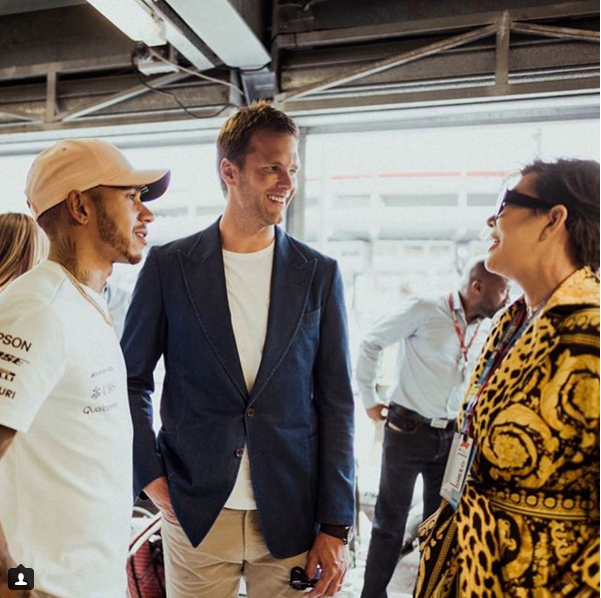 Tom With Lewis Hamilton And Kris Jenner In Monaco Today New England Patriots Tom Brady Kris Jenner