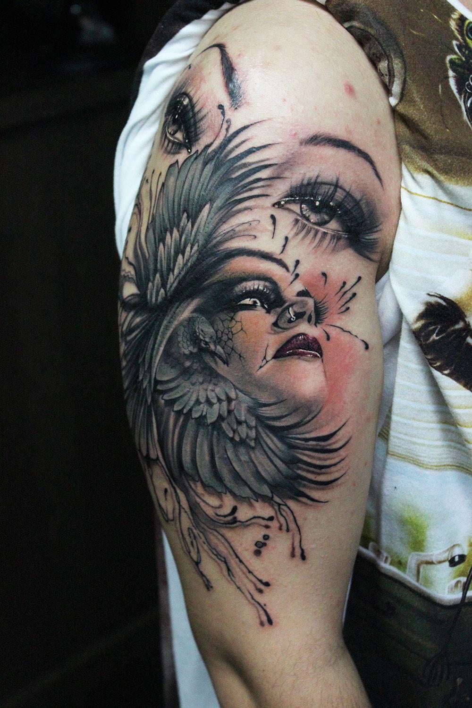 b1cb813c0 floor jansen tattoo   Piercings And Tattoos I Like   Tattoos ...