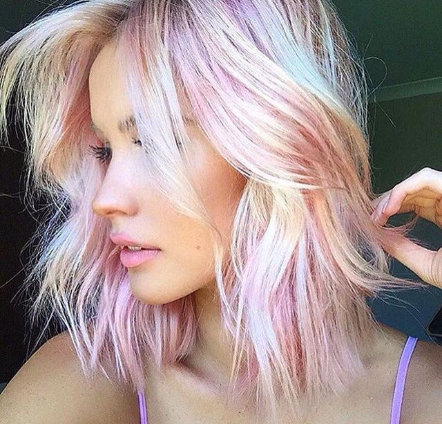 Opal hair Mother of pearl hair By @glamhairartist | Hair color and ...