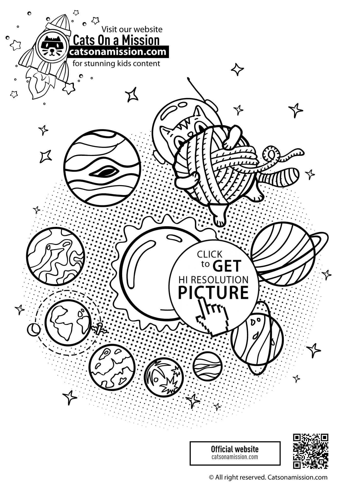 Cat In Space With Planets Coloring Pages For Kids Printable Free Cats On A Mission Planet Coloring Pages Space Coloring Pages Coloring Pages [ 2000 x 1413 Pixel ]