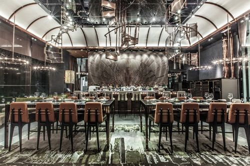 industrial restaurant decor