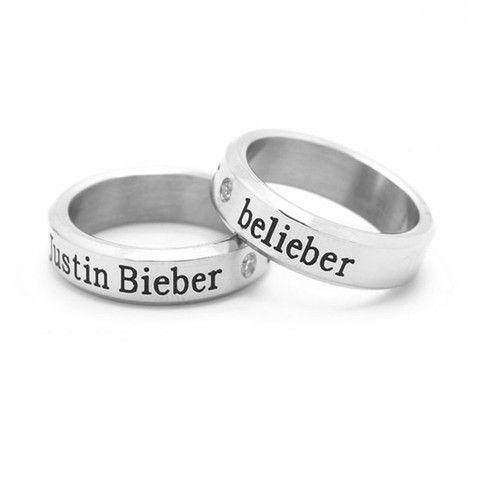 Justin Bieber Ring necklace Love Justin Bieber Pinterest