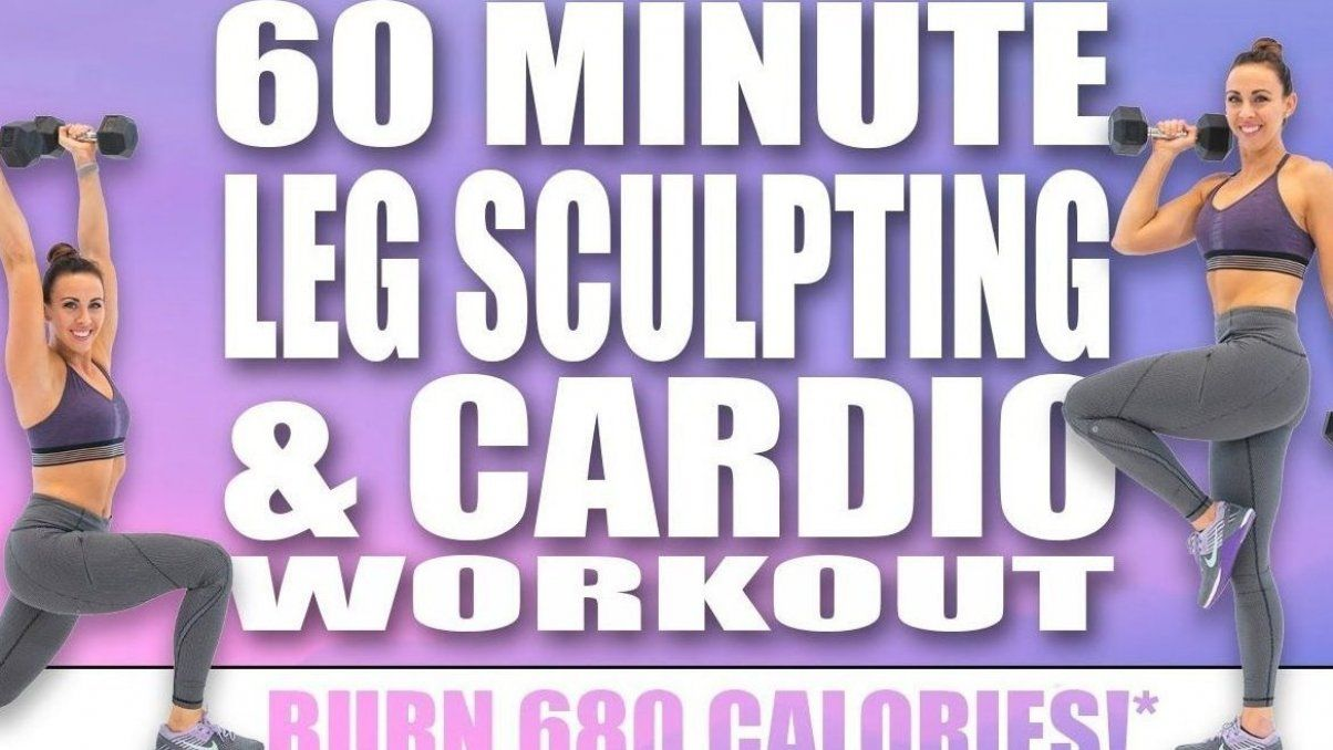60 MINUTE LEG SCULPTING AND CARDIO WORKOUT          BURN 680 CALORIES            with Sydney Cumming...