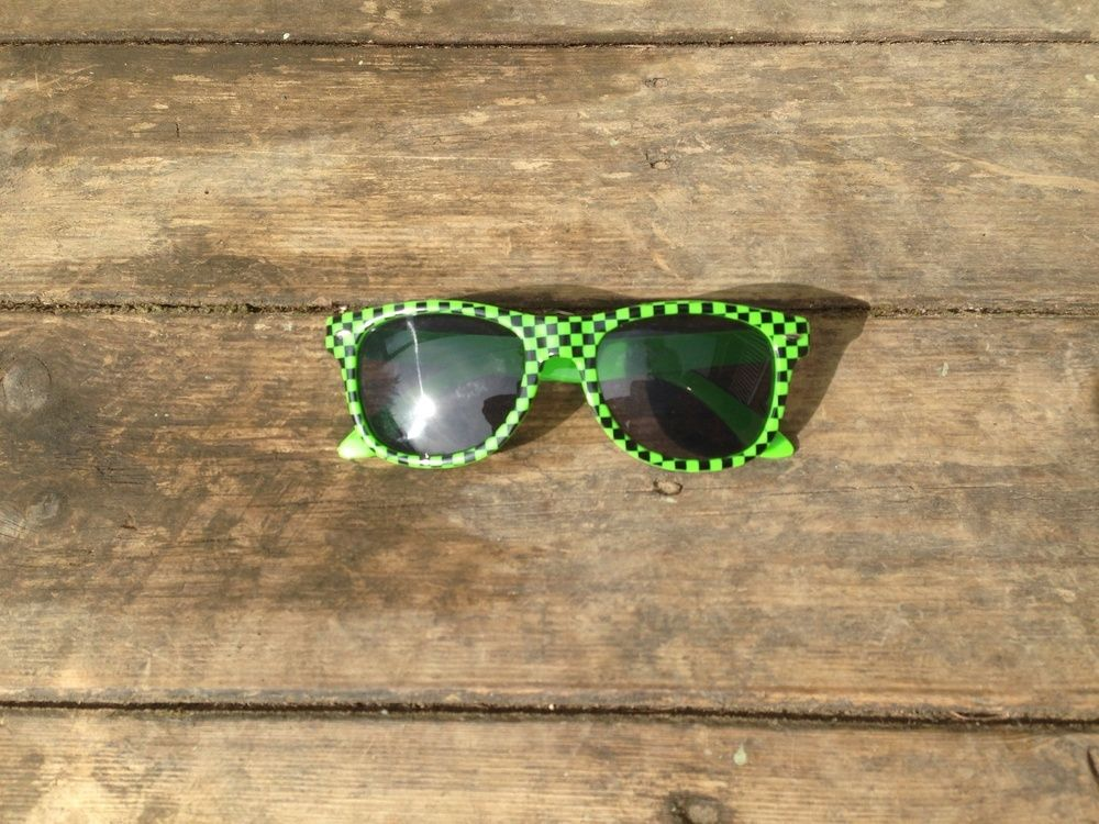 Image of 'Check mate' wayfarer sunglasses