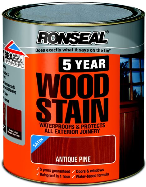 Ronseal 5 Year Woodstain 750ml for chicken coop in natural pine