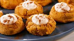 You'll Be Baking Pumpkin Cheesecake Thumbprints On Repeat This Fall