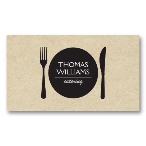Customizable business card for catering company or personal chef customizable business card for catering company or personal chef reheart Image collections