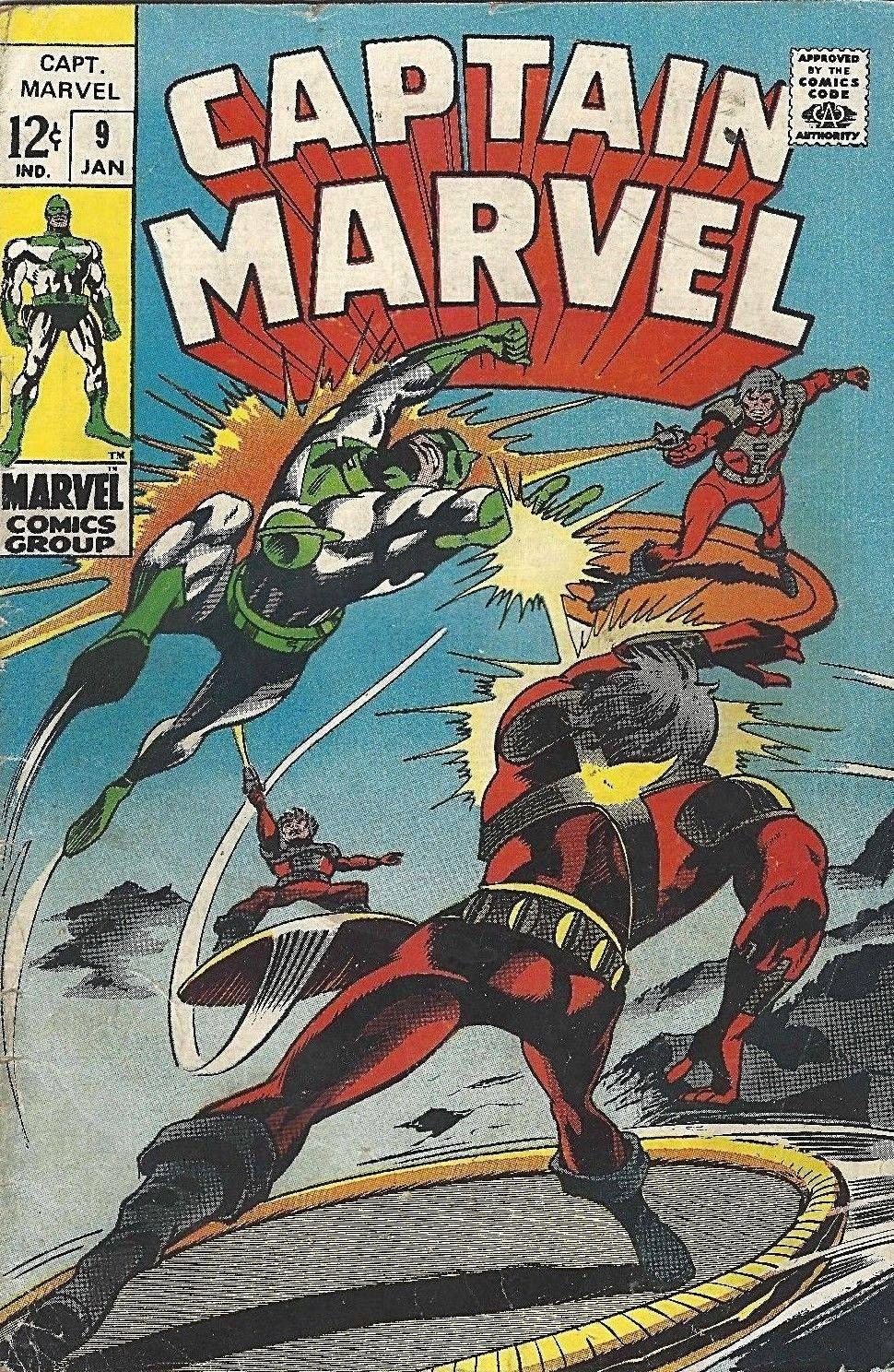 marvel comics captain marvel vol.1 issue 9 1969 | bat | marvel