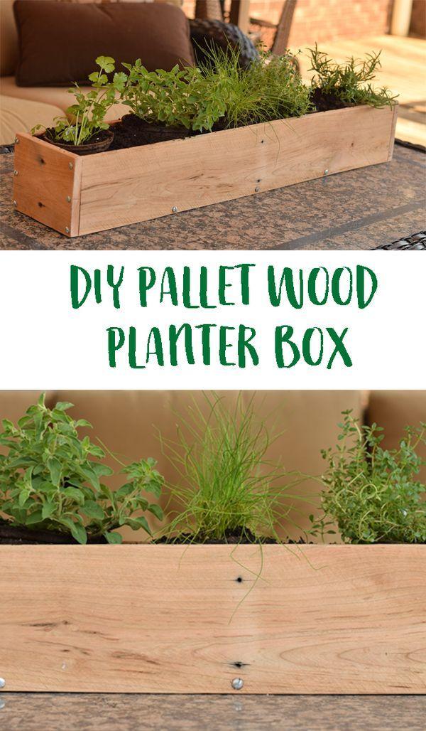 Diy Wood Pallet Planter Box Use Pallet Wood To Create 400 x 300