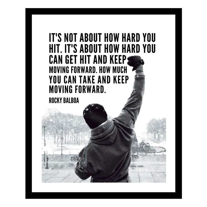Famous Rocky Balboa Movie Quote Poster Prints Wall Decoration Art Pictures