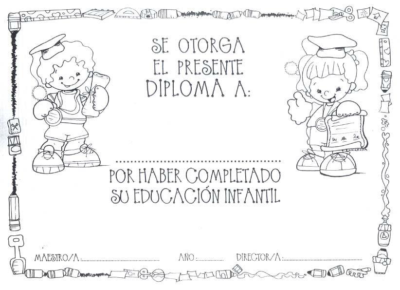Diplomas Fin de Curso | Diplomas, Infantiles y Graduación
