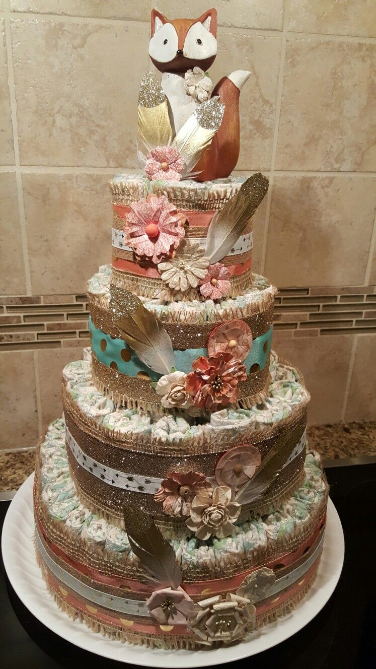 Diaper cake for baby girl Diy diaper cake, Baby girl