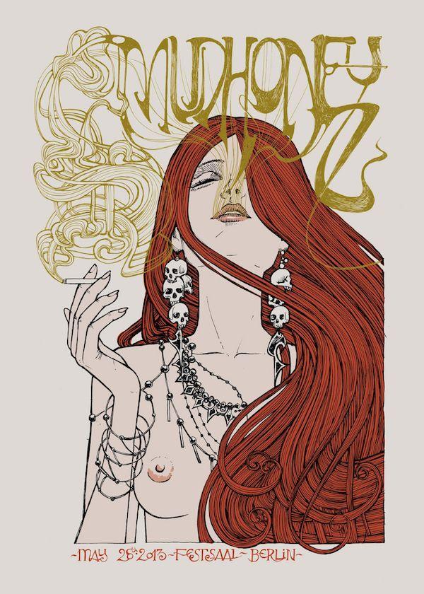 La bellezza dei poster del rock Mudhoney, 26 maggio 2013, Berlino. Artist: Malleus