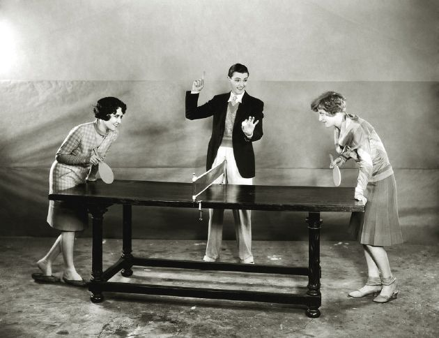 A Fun 1920s Game Of Table Tennis Vintage 1920s Sports