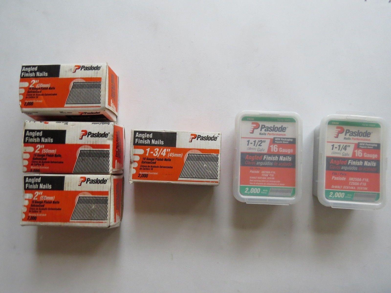 Paslode Angled Finish Nails 2 1 3 4 1 1 2 1 1 4 Bulk Lot 16 Gauge Galvanized Ebay Link It Is Finished Bulk Lots Galvanized