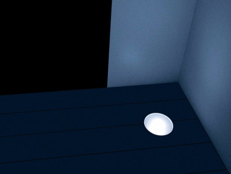 Illuminazione da incasso a led a pavimento rasoterra by davide