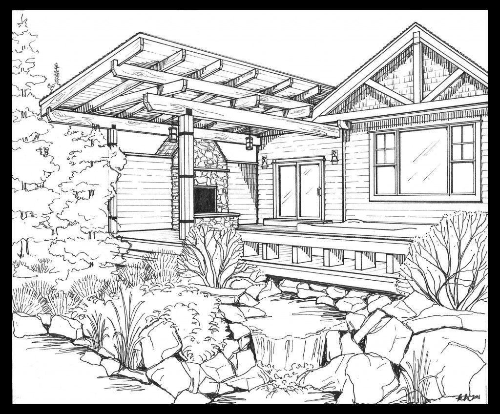 backyard scene coloring pages pinterest backyard