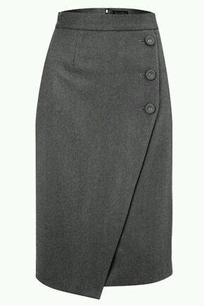 07dd7db2e Falda con botones de lado | My Fashion | Skirt fashion, Skirts, Fashion