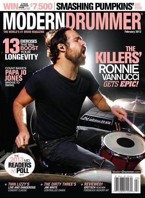 February 2013 Issue Of Modern Drummer Contents