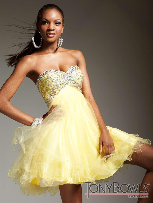 Tony Bowls Tulle Short Dress - TS11386