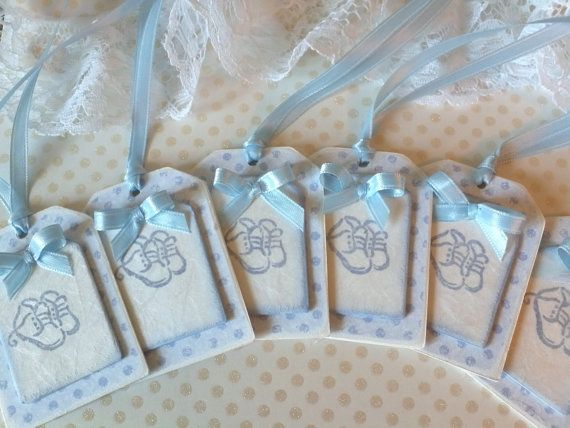 Set Of Six Blue Gift Tags For New Baby by APregnancyStory on Etsy.