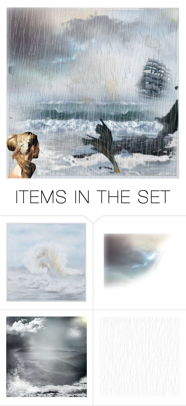 """Out to Sea (Fantastical Forms Contest--Plz Join!)"" by vintageeatherbooks ❤ liked on Polyvore featuring art"