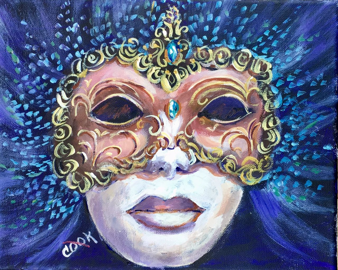 Mardi Gras Mask in Blue was created for our YouTube
