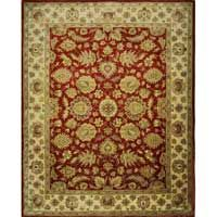 Noor Jahan Red Gold Area Rug Perfect For Adding A Touch Of Drama To Your Tuscan Living Room