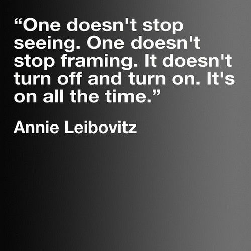 She is our favorite photographer.  We really feel this way too.  Annie Leibovitz. Genius Photographer. Idol. Visionary.