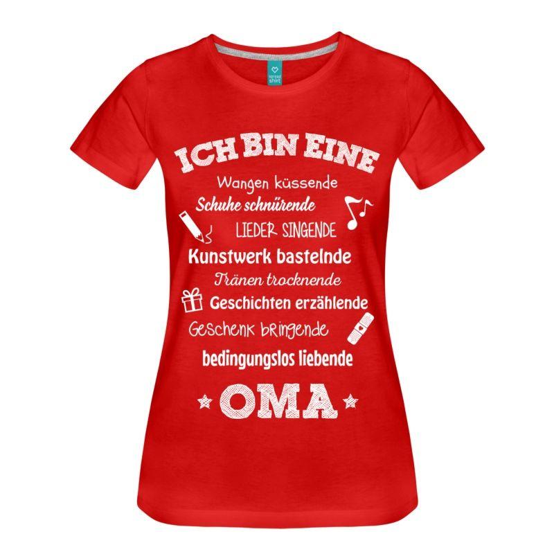 Ich Bin Eine Wundervolle Oma T Shirts Frauen Premium T Shirt   Rot