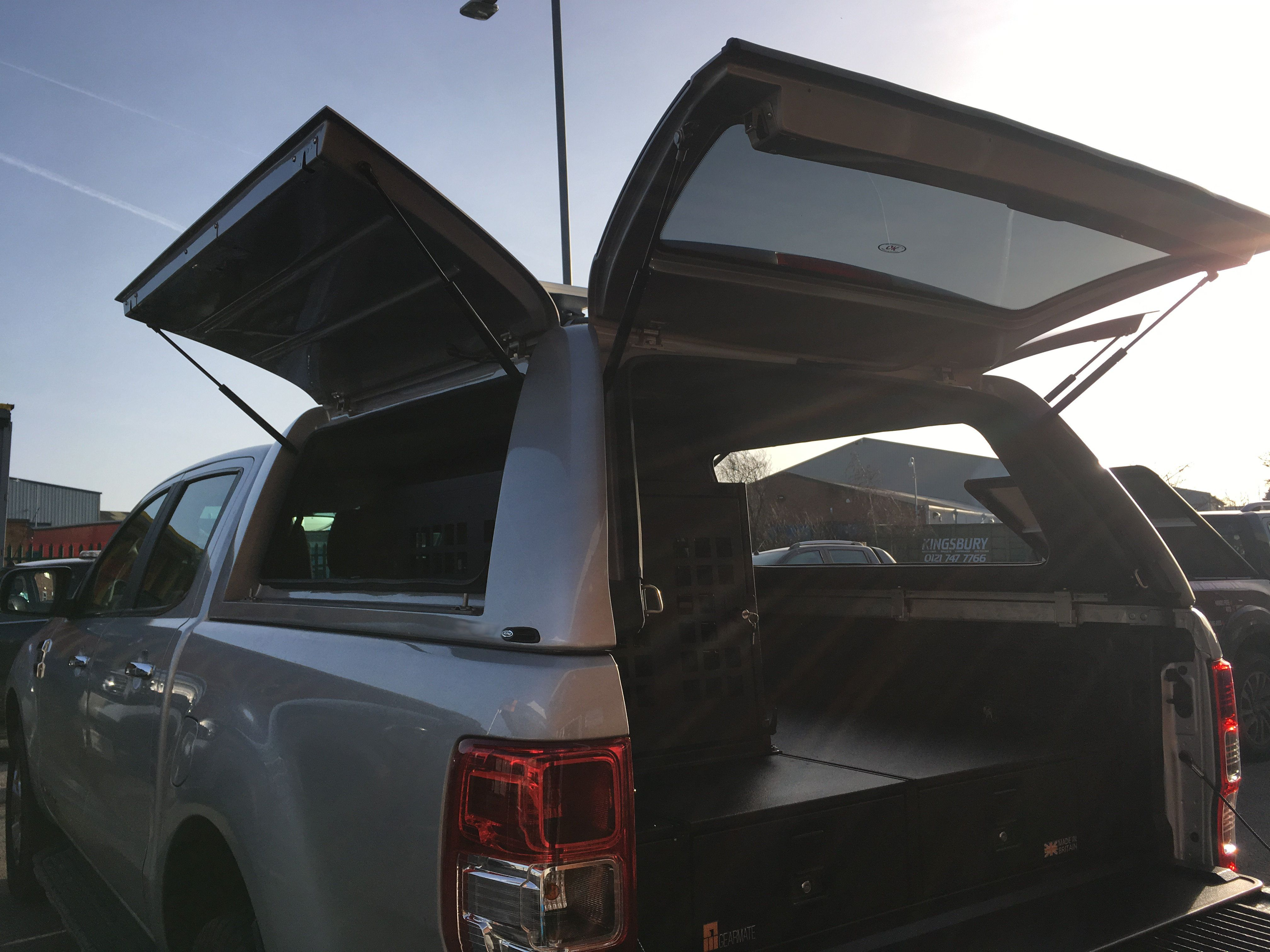 Ford UK Ranger fitted with Gearmate Gull Wing Hardtop