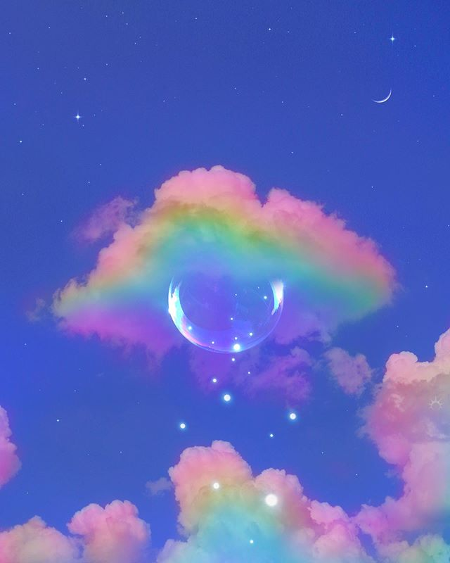 pin by emi on heaven rainbow wallpaper aesthetic