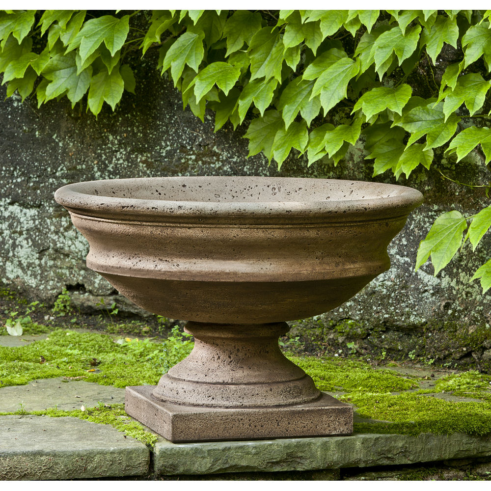 Newberry Urn Wide Bowl Large Outdoor Planter | Kinsey Garden Decor